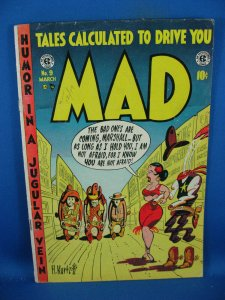 MAD 9 F- THE RAVEN GRAB A PIECE OF HISTORY COMIC SIZE 1954
