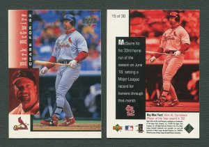 1998 Upperdeck Mark McGwire HR Commemorative Card / MINT