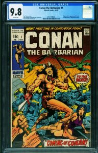 Conan the Barbarian #1 9.8 1970 BRONZE AGE KEY White pages-2051708003