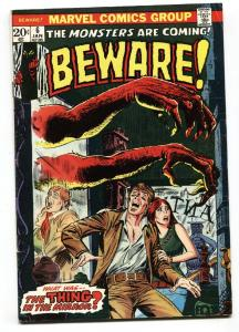 BEWARE #6-THING IN THE MIRROR!-MARVEL-1974-HORROR
