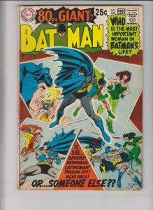 Batman #208 FN february 1969 - 80 page giant G-55 - batgirl/catwoman/poison ivy
