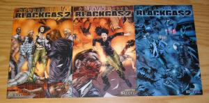 Warren Ellis' Black Gas 2 #1-3 VF/NM complete series - all wrap variants set
