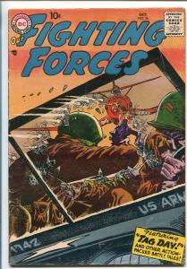 OUR FIGHTING FORCES #26-1957-DC-SILVER AGE-RUSS HEATH-FINGER MAN-vg