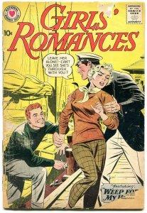 Girls' Romances #62 1959-DC-violent romance triangle cover-nice art-f/g
