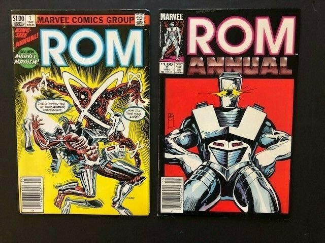 A15 SET of 4-MARVEL  ROM Spaceknight ANNUALS #1-#4 FINE//VERY FINE