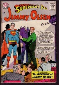 SUPERMAN'S PAL JIMMY OLSEN #78 1964-RARE PAPER DOLL COV VG/FN