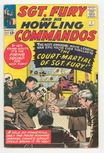SGT. FURY #7 1964-JACK KIRBY-COURT MARTIAL-SILVER AGE-FN