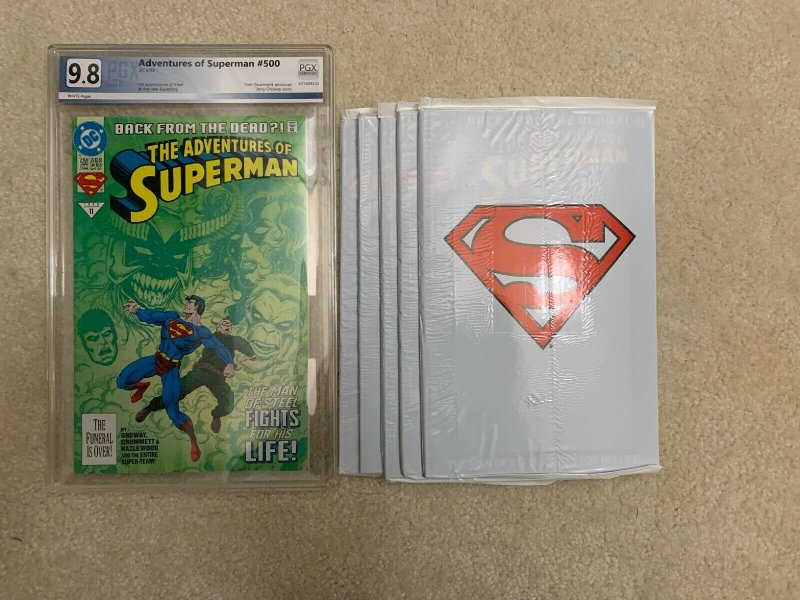 Estate Sale Lot 9.8 White Pages TV/MOVIE 1st appearances Superman #500 & Batman