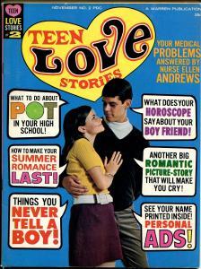 Teen Love Stories #2 1967-Warren-romance stories-marijuana feature-FN
