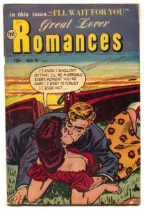 Great Lover Romance #12 1953- Canadian edition- VG