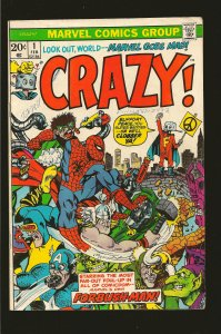 Marvel Comics Crazy #1 (1973) SALVAGED >PLEASE READ NOTE<