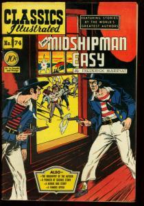 Classics Illustrated  #74 HRN 75--Mr Midshipman Easy 1st edition F/VF