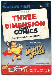 MIGHTY MOUSE THREE DIMENSION COMICS #1-3-D-RARE VG