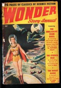 WONDER STORY ANNUAL 1950-GOOD GIRL ART SCI-FI CVR-PULP! G