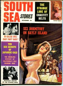 South Sea Stories 11/1964-bondage-torture-female pirates-pulp thrills-VG