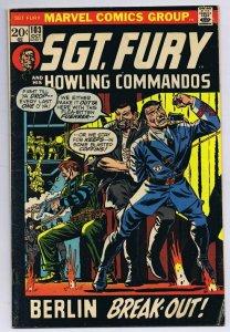 Sgt Fury #103 ORIGINAL Vintage 1972 Marvel Comics Berlin Breakout