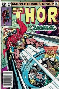 Thor #317 (1966 v1) Iron Man Man-Thing FN