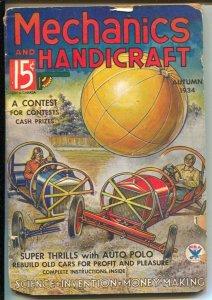 Mechanics and Handicraft Fall 1934-auto polo cover-early Nedor-Alex Schomburg?-F