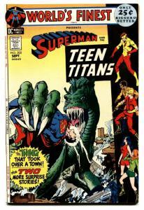 WORLDS FINEST #205 comic book 1971-DC COMICS-TEEN TITANS-SUPERMAN