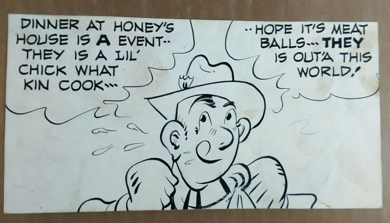 HAROLD TEEN by Carl Ed original comic strip art panel lot