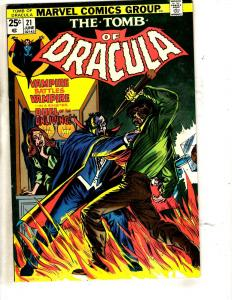 Tomb Of Dracula # 21 VF Marvel Comic Book Horror Fear Vampire Monster TW64
