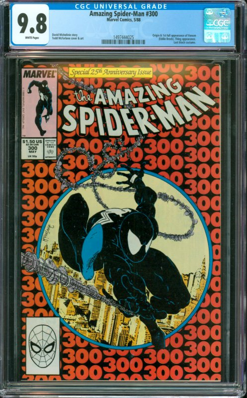 The Amazing Spider-Man #300 CGC Graded 9.8 Origin and 1st full appearance of ...