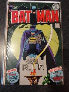 Batman #242  Bruce Wayne Rest In Peace Robin 1972!