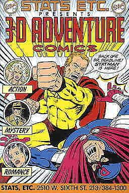 3-D Adventure Comics #1 VF/NM; Stats Etc | save on shipping - details inside