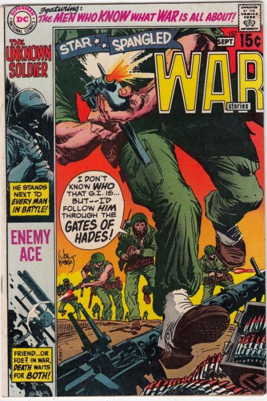 Star Spangled War Stories #152 (Sep-70) VF+ High-Grade Unknown Soldier, Enemy...