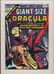 Marvel GIANT-SIZE DRACULA #3 Slow death on the killing ground F/VF (PF779)