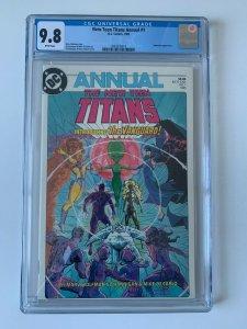 New Teen Titans #1 (1985 - DC Comics) 1st app of Vanguard - CGC 9.8