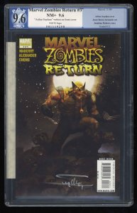 Marvel Zombies Return #3 PGX NM+ 9.6 White Pages Signed by Arthur Suydam!!