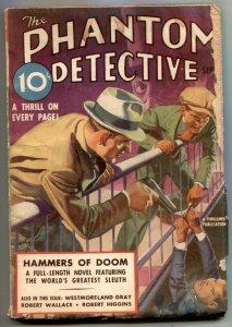 Phantom Detective Pulp September 1937- Hammers of Doom- Belarski torture cover