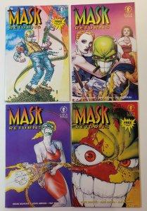 Mask Returns #1-4 Complete Set Masks Included Dark Horse 1992 VF/NM