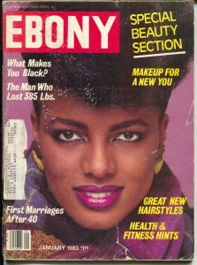 Ebony 1/1983-Special beauty Section-What Makes You Black?-VG