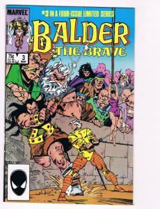 Balber The Brave # 3 Marvel Comic Books Thor Asgard Avengers Odin Loki!!!!!! S50