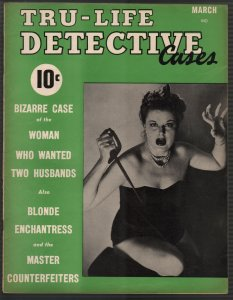 Tru-Life Detective Cases #5 3/1942-Tayshack-dagger cover-horror-crime-mystery-VF