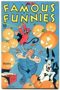 FAMOUS FUNNIES #135-WW2-Halloween cover-BUCK ROGERS-CARLSON vf-