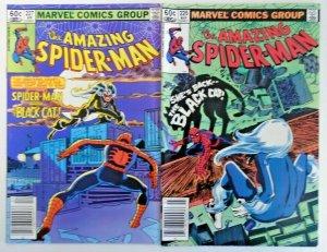 *Amazing Spider-Man #226vf, 227vf Newsstand; Black Cat (2 books)