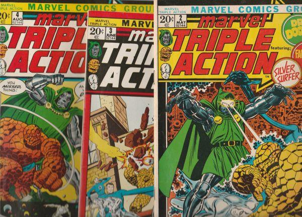 Marvel Triple Action Set #1to4 (Feb-72) NM/NM- High-Grade Fantastic Four