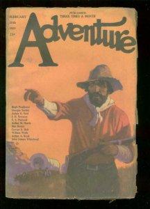 ADVENTURE PULP-FEB 20 1923--JAMES C McKELL--H PENDEXTER-very good VG