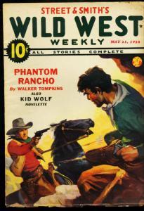 WILD WEST WEEKLY MAY 21 1938 SONORA KID PHANTOM RANCHO VG