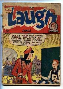 LAUGH COMICS #30 1948- ARCHIE COMICS- BETTY & VERONICA- P/FR