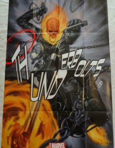 THUNDERBOLTS Promo Poster, 24 x 36, 2013, MARVEL GHOST RIDER, Unused 274