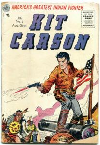 Kit Carson #8 1955- Golden Age Western- American Flag cover G/VG
