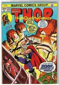 THOR #215, VG+, God of Thunder, John Buscema, 1966, more Thor in store