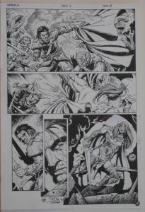 TIMOTHY TRUMAN original art, GRIM JACK #1, pg 4, 11x17, Killer Instinct, IDW