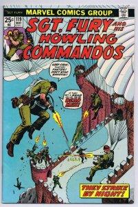 Sgt Fury #119 ORIGINAL Vintage 1974 Marvel Comics