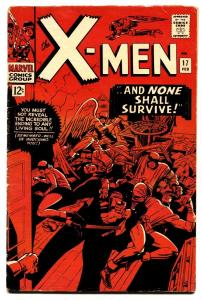X-MEN #17 comic book-MARVEL SILVER AGE-VG+