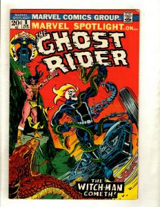 Marvel Spotlight # 8 FN Comic Book Feat. Ghost Rider Witch-Man Snake Cover HY1